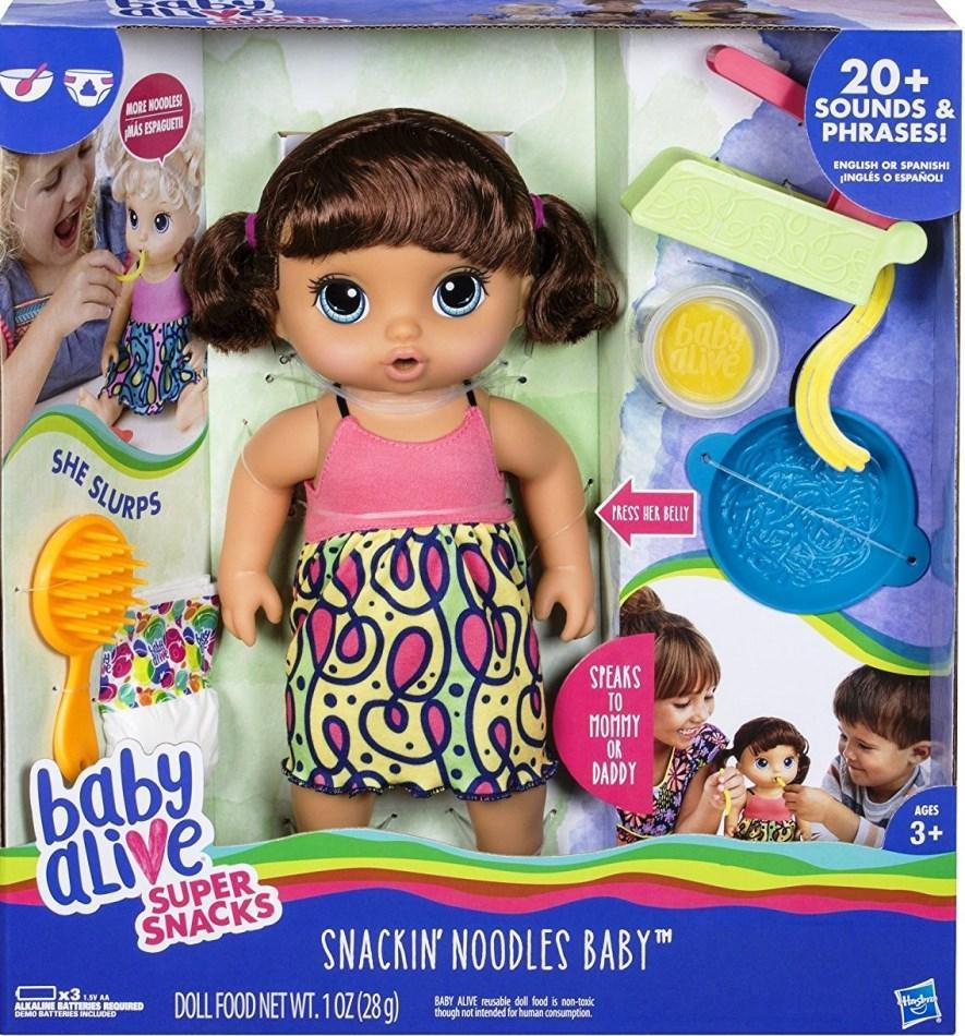 Baby Alive Super Snacks Snackin/' Noodles Baby Brunette