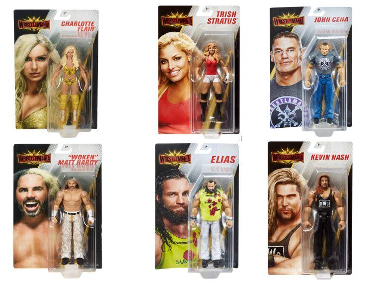 "MATTEL WWE WRESTLEMANIA Core 6/"" Action Figure-Scelta di 6 Caratteri-Nuovo"